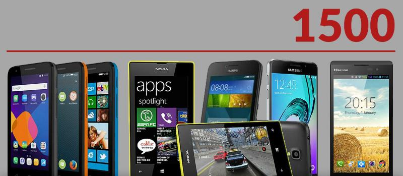 Smartphones below R1500 CompareGuru