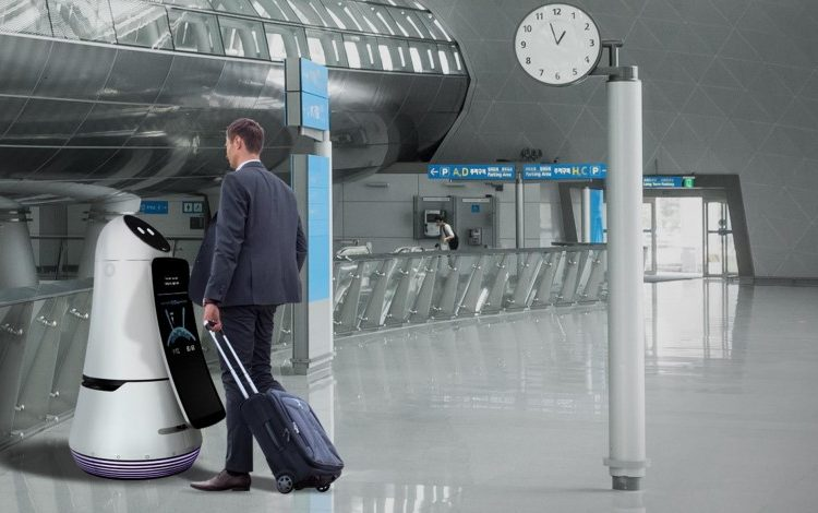 LG brings robots to the airport