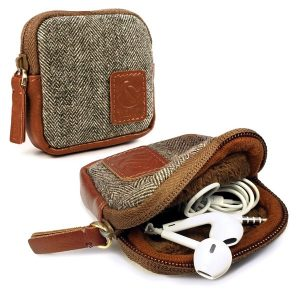 Tuff Luv Tuff-luv Herringbone Tweed Travel Case Pouch For Earphones Headphones