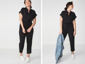 Cotton On Woven Short Sleeve Jumpsuit
