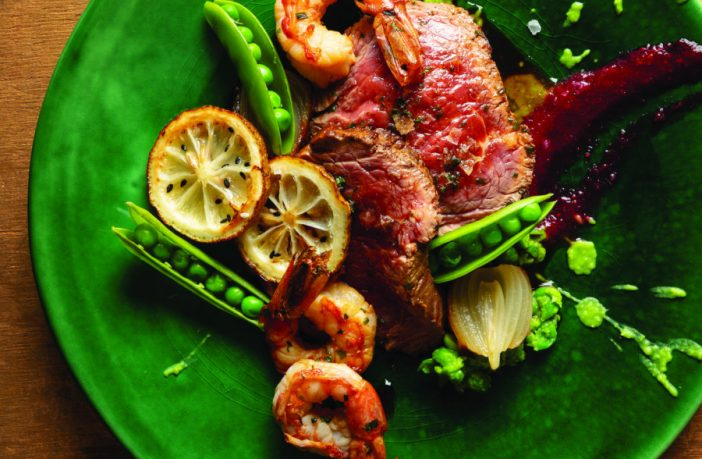 Maple Glazed Roast Beef with Plums